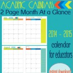 1394411357.41 Free Academic School Calendar 2014 2015. 2 of 3 {Maybe}