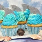 Shark Tail Cupcakes