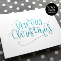holiday card series 2016 day 12 diy foil stamping