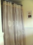 stenciled drop cloth shower curtain
