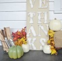 Thanksgiving Centerpiece, Rustic Neutral Thanksgiving Centerpiece